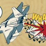 comic image of jet dropping bomb to demonstrate the effectiveness of IES global's weapons testing program